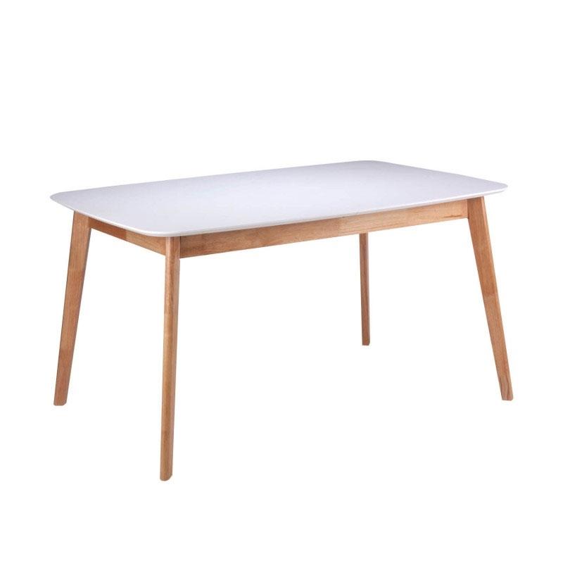 Mesa de Comedor extensible ENMA 120 - Mesa de comedor de 120x75 con tapa de 18 mm de espesor deslizante y un extensible de libro en el centro que permite convertirla en mesa de 150