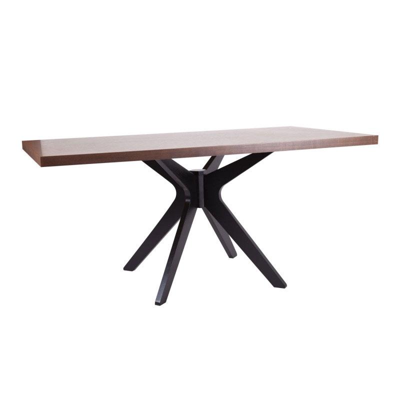 Mesa de Comedor Shela 160 - Mesa de comedor fija de medida rectangular 160x90 con tapa grueso 45mm fabricada en diferentes acabados