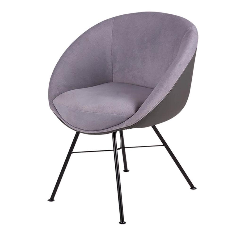 Silla ALEXA - Silla de comedor con patas metálicas en color negro que podrás utilizar también como un sillón decorativo
