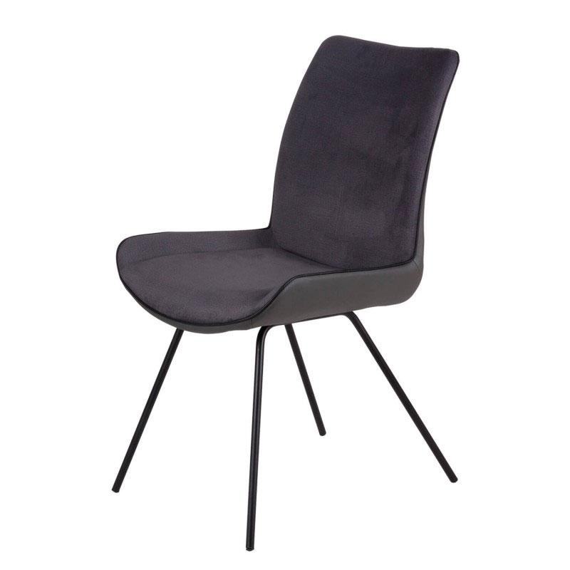 Silla NORMA - Silla tapizada para comedor o despacho gracias a su estructura de acero.