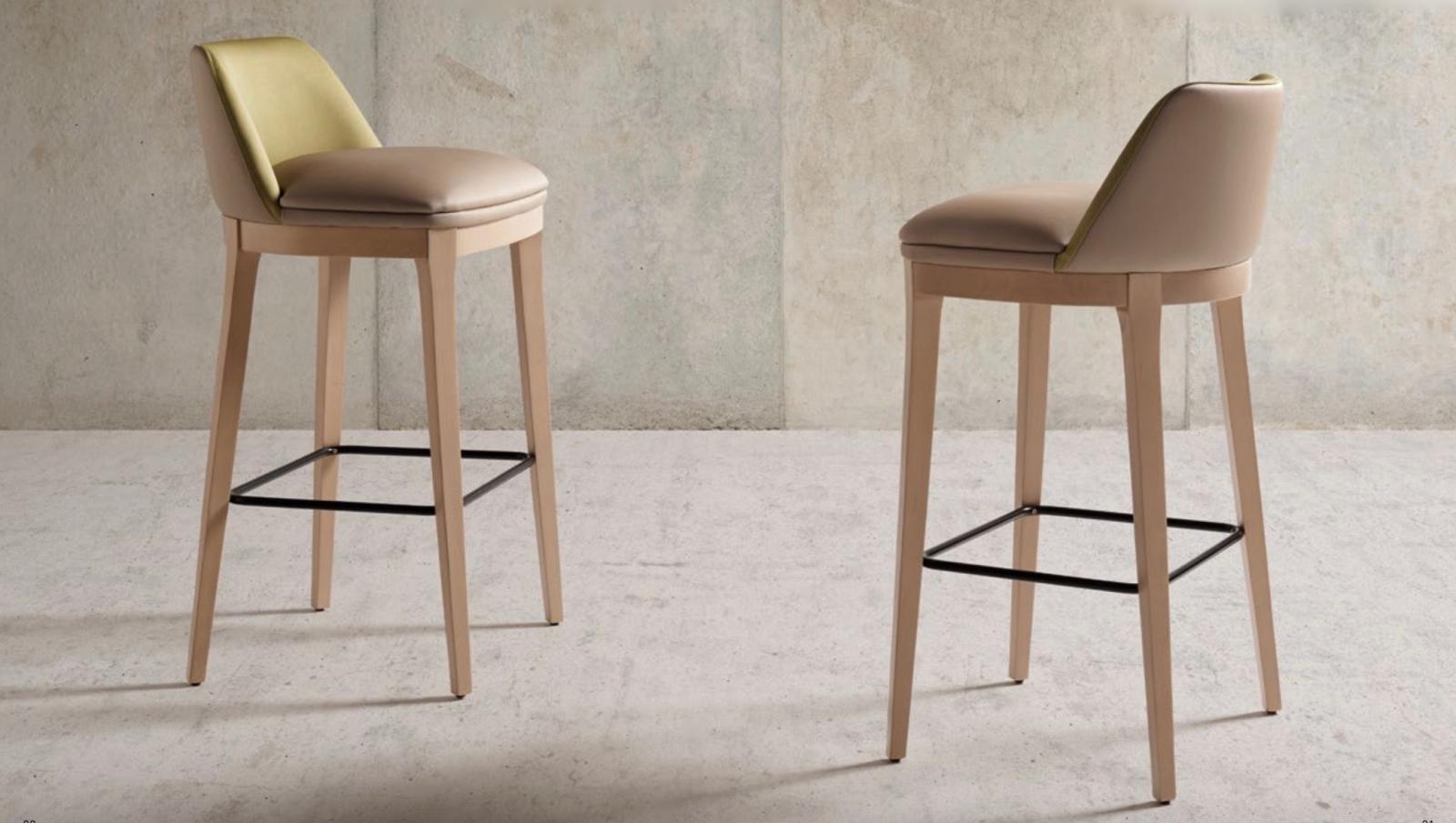 Taburete Moon moderno - Taburete Moon, silla alta con un tapizado de excelente calidad y madera de haya.  Moderno y cómodo.