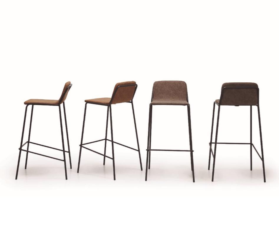 Taburete Bristol moderno - Taburete Bristol, silla alta con un tapizado de excelente calidad. Moderno y cómodo.