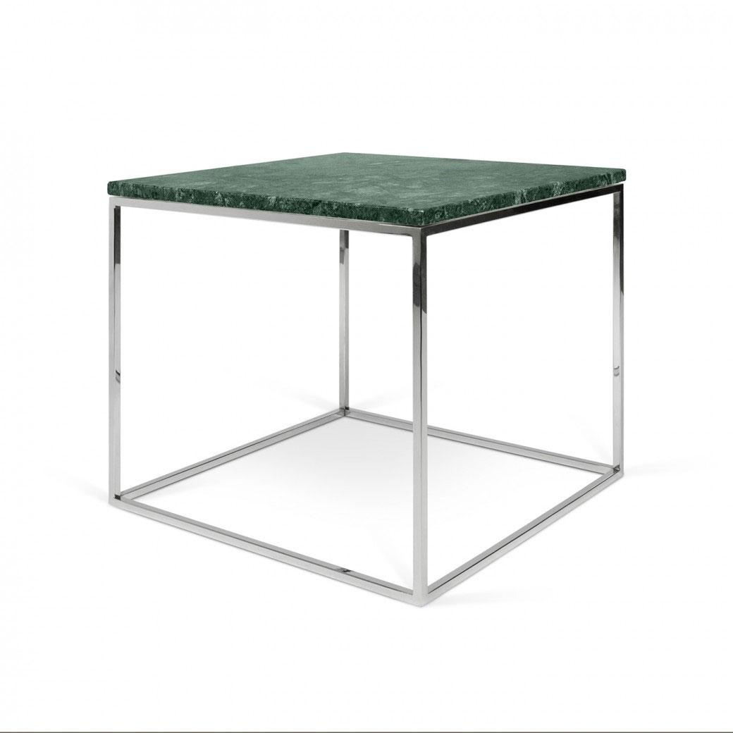 Mesa Gleam 20 Marble - Mesa Gleam 20 Marble, Mesa lateral modular de madera o mármol con varias opciones de color y patas en acero lacado o cromado.