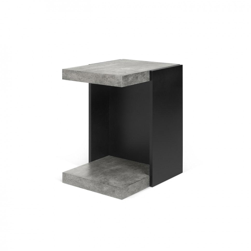 Mesa auxiliar Klaus - Mesa auxiliar Klaus, Mesa auxiliar contemporánea multifuncional con tres áreas para colocar objetos.