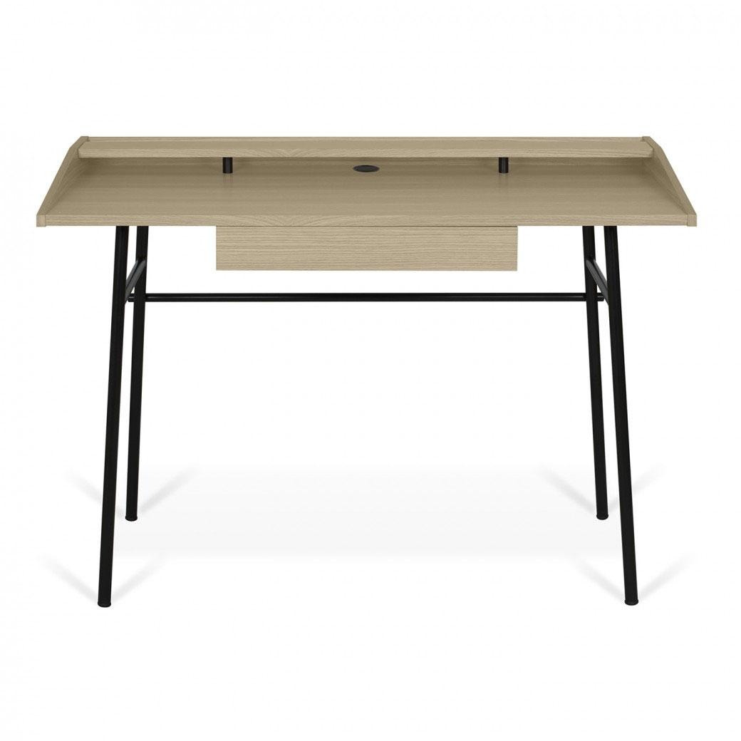 Escritorio PLY - Escritorio PLY, es un escritorio moderno y funcional con tres espacios de almacenamiento pequeños que brindan almacenamiento horizontal