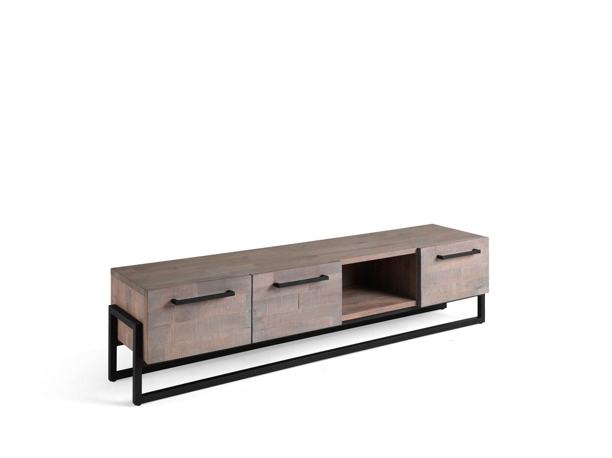 MUEBLE TV 200 CM CARDIFF ROBLE GLASE - MUEBLE TV 200 CM CARDIFF ROBLE GLASE