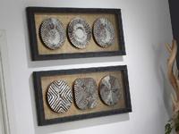 Set de cuadros espejo abstracto
