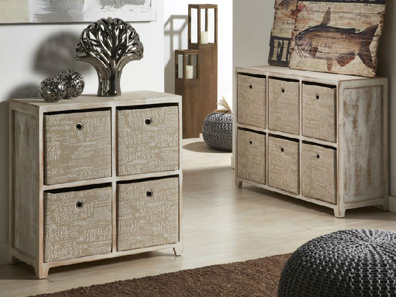 Muebles aparadores entrada rusticos for Muebles con cajones de madera