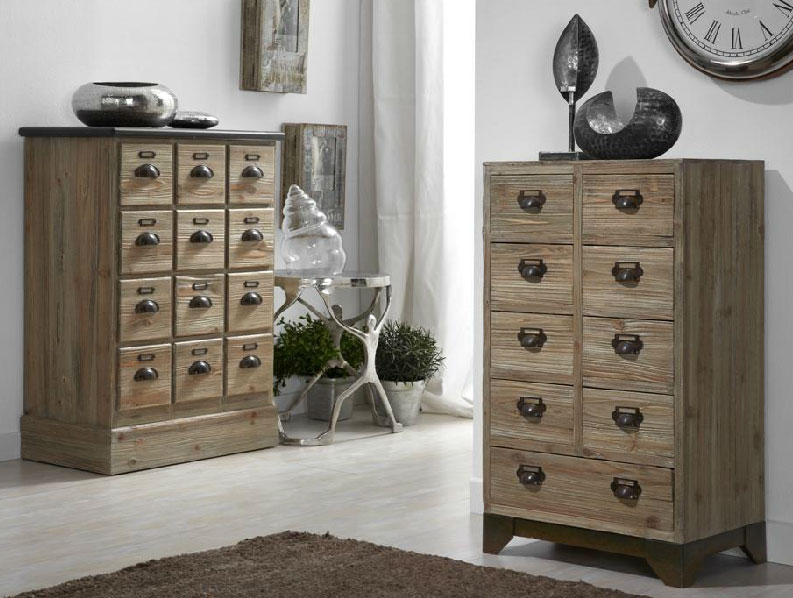Muebles de madera natural comodas o chifornier for Muebles con cajones de madera