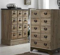 Muebles auxiliares de madera natural
