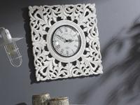 Reloj de pared en madera tallada - Reloj de pared en madera tallada