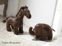 Topes de puerta forma de caballo - Topes de puerta de caballo forrado en tela