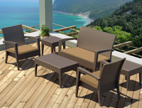 Sofás de exterior conjuntos - Sofa sillón mesa para conjuntos o de uso individual