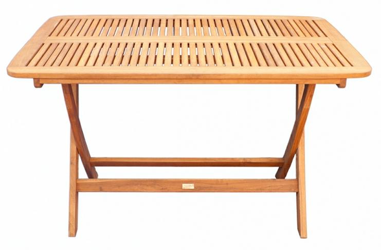 Mesa plegable madera teca maciza de calidad for Mesas de terraza plegables