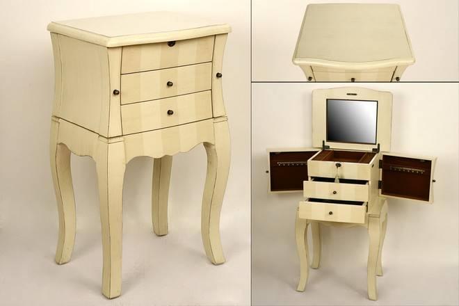 Joyero blanco crudo mueble - Muebles en crudo para pintar ...