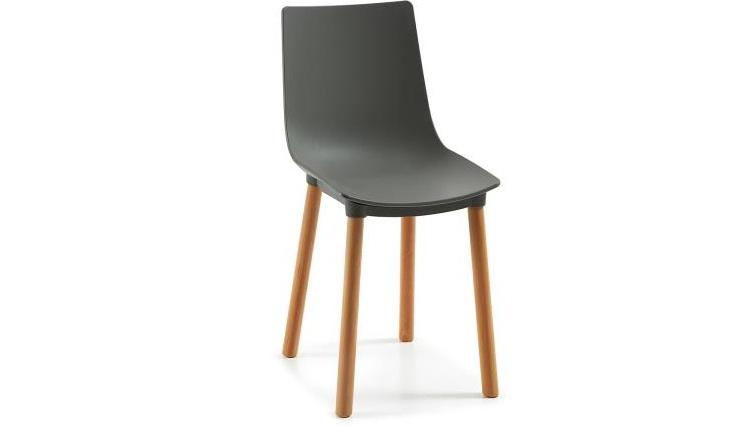 Mia home silla de pl stico en rojo blanco negro gris for Sillas de plastico