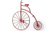 Bicicleta de decoración para pared - Bicicleta decorativa para pared en metal rojo