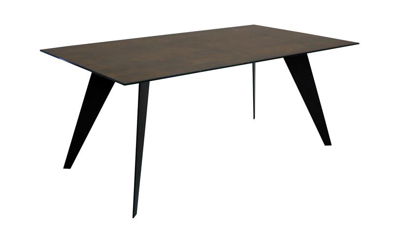 Mia home nack mesa en madera con acabado porcelanico - Mesa comedor porcelanico ...