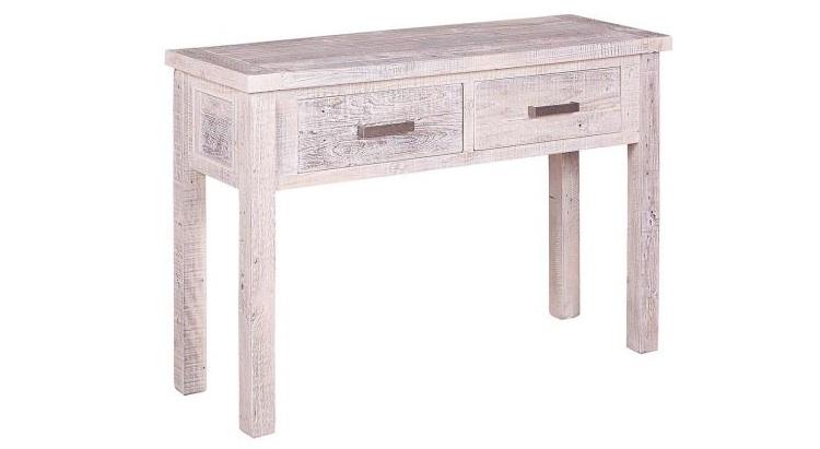 Condola de madera de pino con acabado envejecido - Consola con madera de pino y acabado envejecido
