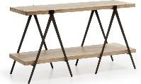 Mesa de centro Morga - Mesa de centro de madera con estructura de hierro