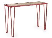 Consola de hierro - Consola de hierro en rojo o gris