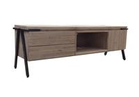 Mesa de TV Disset 2P 1C - Mesa de TV Disset 2P 1C en madera de acacia maciza