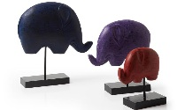 Elefantes de madera multicolor - Set de elefantes en madera pintada
