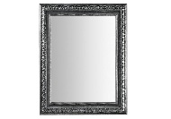Espejo rectangular color plata - Espejo rectangular con marco de madera tallada