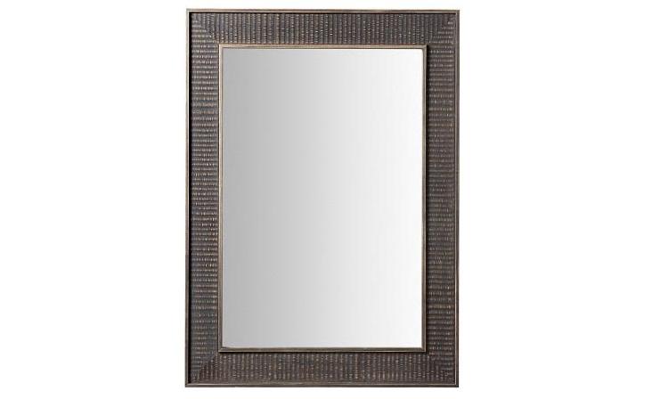 Espejo con marco de madera - Espejo rectangular gris o blanco puro