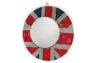 Espejo redondo de hierro - Espejo redondo con marco de hierro