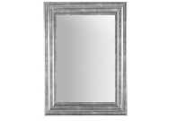 Espejo rectangular en plata o blanco - Espejo rectangular con marco de madera disponible en blanco o plata