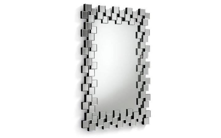 Espejo rectangular MYRA - Espejo rectangular con marco de formas geométricas