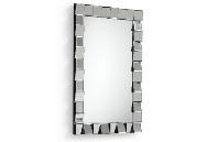 Espejo rectangular con marco de fumé - Espejo rectangular con marco de cristal