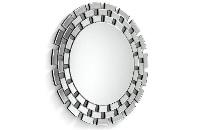 Espejo redondo con marco de cristal - Espejo redondo con marco de cristal