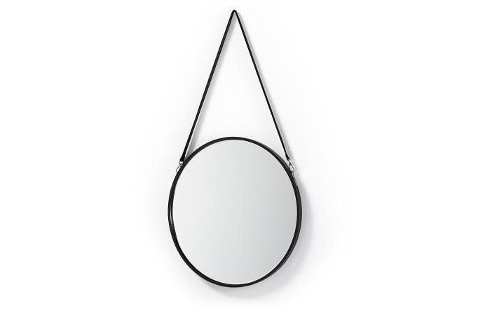 Espejo redondo con marco de metal - Espejo redondo con marco de metal