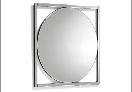Espejo rectangular de cristal - Espejo rectangular con marco de cristal