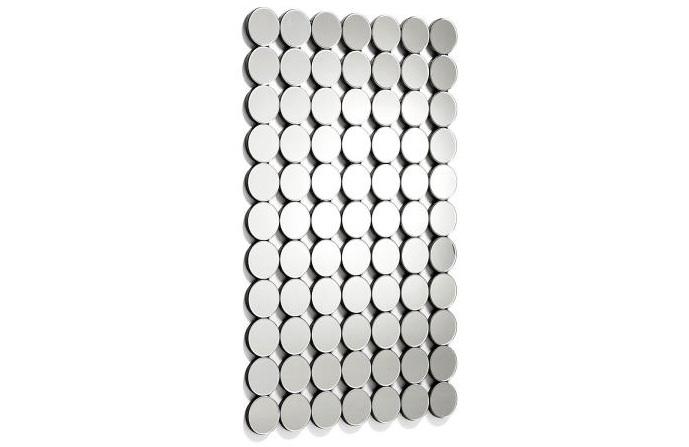 Espejo rectangular de circulos - Espejo rectangular de cristal