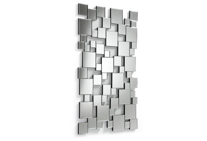 Espejo rectangular de cuadros - Espejo rectangular de cristal