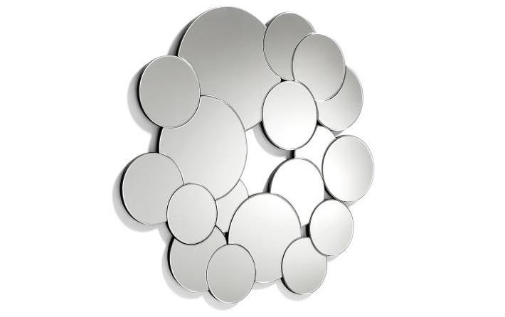 Espejo de cristal - Espejo redondo con círculos en cristal