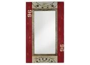Espejo con marco de madera - Espejo rectangular con marco rojo