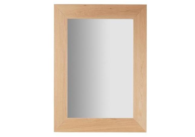 Mia home espejo rectangular de madera for Espejo marco madera natural
