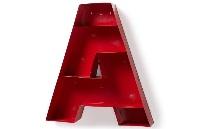 Estanteria de metal rojo  - Estantería de metal rojo en forma de letra A