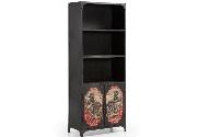 Estanteria negra vintage - Mueble de librería de metal estilo vintage