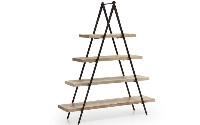 Estantería Morga - Estanteria piramidal de madera con estructura de hierro