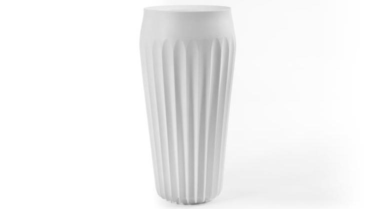 Jarrón alto de diseño  - Jarrón alto de plástico ideal para interiores o exteriores
