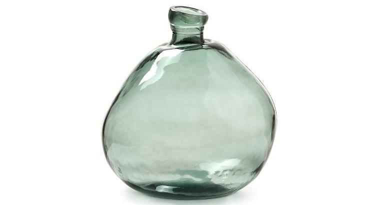 Mia home jarr n de cristal reciclado disponible en varios for Jarron cristal