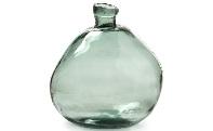 Jarrón de cristal  - Jarrón de vidrio reciclado disponible en verde y marrón