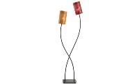 Lámpara de dos colores - Lámpara con dos pantallas metálicas