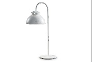 Lámpara de sobremesa de metal - Lámpara de sobremesa con pantalla de metal en acabado blanco