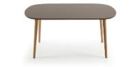 Mesa extensible ovalada de madera - Mesa de comedor ovalada y exyensible